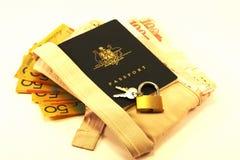 Curso & segurança do passaporte foto de stock royalty free