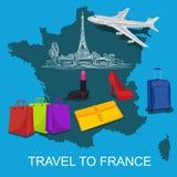 Curso ao conceito de França, ilustração do vetor Fotografia de Stock