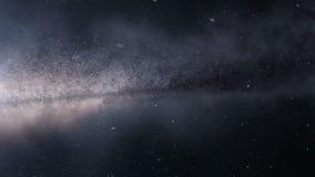 Curso através da galáxia vídeos de arquivo