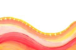 Curso colorido da escova da aquarela isolado no branco foto de stock
