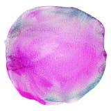 Curso colorido da escova da aquarela, respingo, círculo Foto de Stock