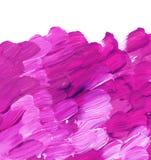 Curso cor-de-rosa vívido da escova de pintura acrílica para o fundo foto de stock