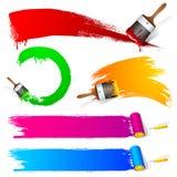 Curso da escova de pintura ilustração stock