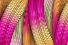 curso da escova de pintura do sumário 3d Fundo moderno colorido Foto de Stock