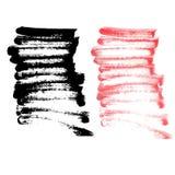 Curso da escova em colorido branco e preto Imagens de Stock Royalty Free