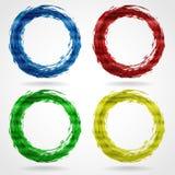 Curso da escova sob a forma de um círculo. Fotografia de Stock