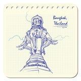 Curso da estátua do elefante Foto de Stock