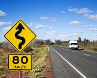 Curso da estrada de Austrália Imagens de Stock