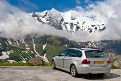 Curso da estrada nos alpes Áustria Fotos de Stock Royalty Free