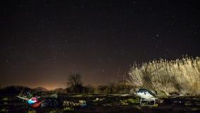 Curso da estrela do sono da noite fotografia de stock royalty free
