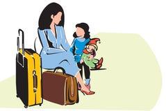 Curso da família ilustração stock