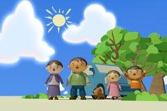 Curso da família Imagem de Stock Royalty Free