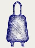Curso da mala de viagem ilustração royalty free