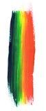 Curso da pintura do arco-íris Fotografia de Stock