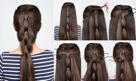 Curso da trança do penteado imagens de stock royalty free
