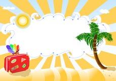 Curso das férias de verão à praia exótica ilustração do vetor