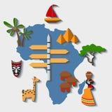 Curso de África do vetor Foto de Stock Royalty Free