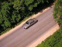 Curso de carro na estrada Imagem de Stock