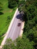 Curso de carro na estrada Foto de Stock