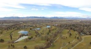 Curso de Colf en Denver Colorado fotografía de archivo