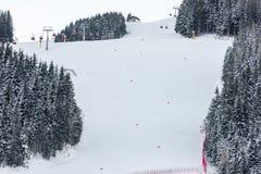 Curso de competência alpino do esqui Imagem de Stock