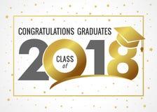 Curso de graduación de ejemplo de 2018 vectores stock de ilustración