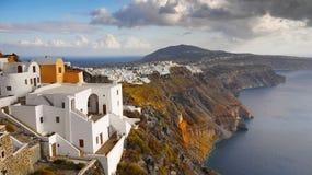 Curso de Grécia da paisagem da ilha de Santorini Fotografia de Stock Royalty Free