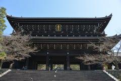 Curso de Japão, Chion no templo, em abril de 2018 fotos de stock