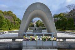 Curso de Japão, paz Memorial Park do ` s de Hiroshima, em abril de 2018 imagens de stock royalty free