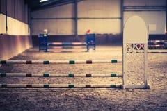Curso de obstáculo do cavalo imagem de stock royalty free
