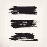 Curso de tinta preta do Grunge Imagem de Stock Royalty Free