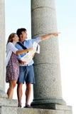 Curso de turista despreocupado foto de stock