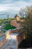 Curso del combate del Novgorod el Kremlin Imágenes de archivo libres de regalías