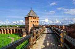 Curso del combate del Novgorod el Kremlin Imagen de archivo libre de regalías