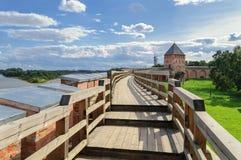 Curso del combate del Novgorod el Kremlin Fotografía de archivo