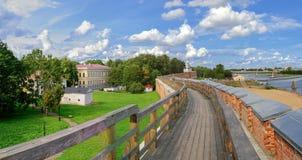 Curso del combate del Novgorod el Kremlin Foto de archivo libre de regalías
