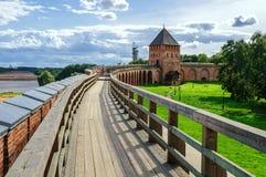 Curso del combate del Novgorod el Kremlin Imagen de archivo