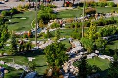 curso del Mini-golf Imagen de archivo
