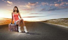 Curso do Autostop Imagem de Stock Royalty Free