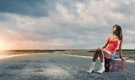 Curso do Autostop Fotografia de Stock