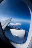 Curso do avião Imagem de Stock
