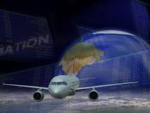 Curso do avião Imagens de Stock