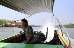 Curso do barco de Tailândia Imagens de Stock