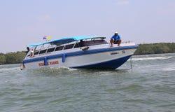 Curso do barco de Tailândia Fotos de Stock