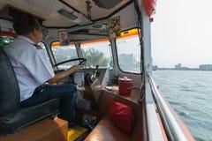 Curso do barco no rio de Chao Phraya Imagem de Stock