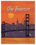Curso do cartaz do vintage de San Francisco Fotografia de Stock