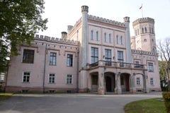Curso do castelo em Letónia Fotos de Stock