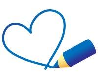 Curso do coração Imagens de Stock