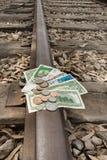 Curso do dinheiro, transferência, investimento do transporte público Fotografia de Stock Royalty Free