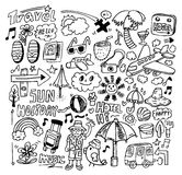 Curso do Doodle Fotos de Stock